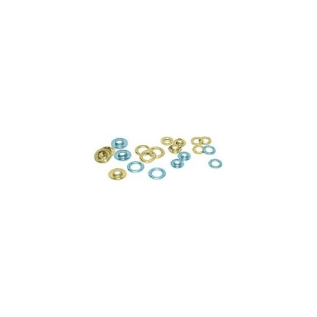 Oeillets en chrome, 18,2mm (lot de 500)