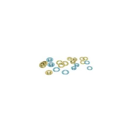 Oeillets en laiton, 18,2mm (lot de 500)