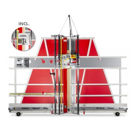 Scie à panneaux verticale Multi matières (1625mm) ( scie circulaire et lames de coupe interchangeables)