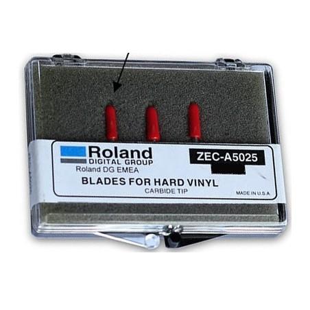 Lame ZEC-A5025-3 (boite de 3 lames) (vinyle épais) (embout Rouge)